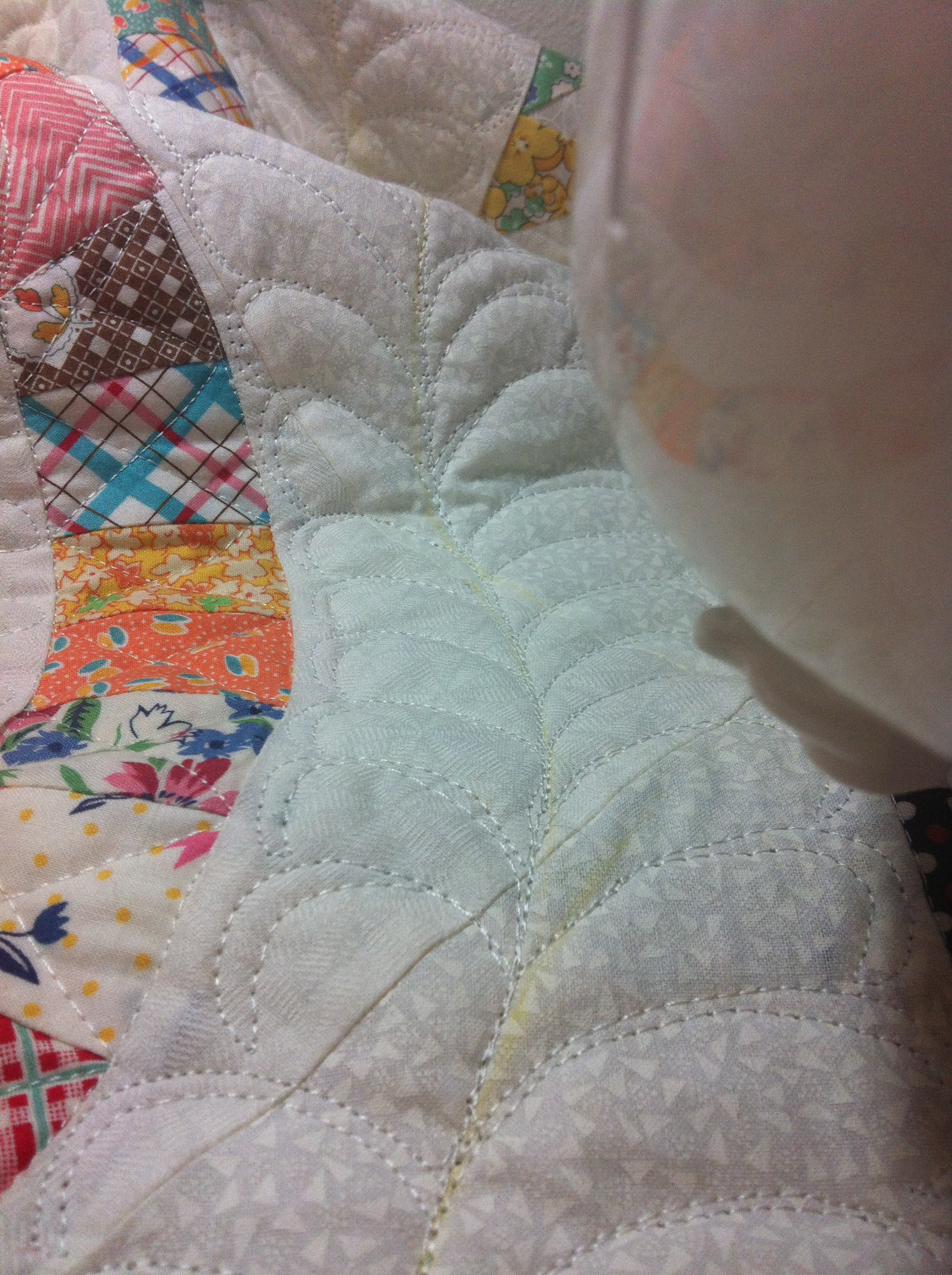 Double Wedding Ring quilt SewLuxeSew