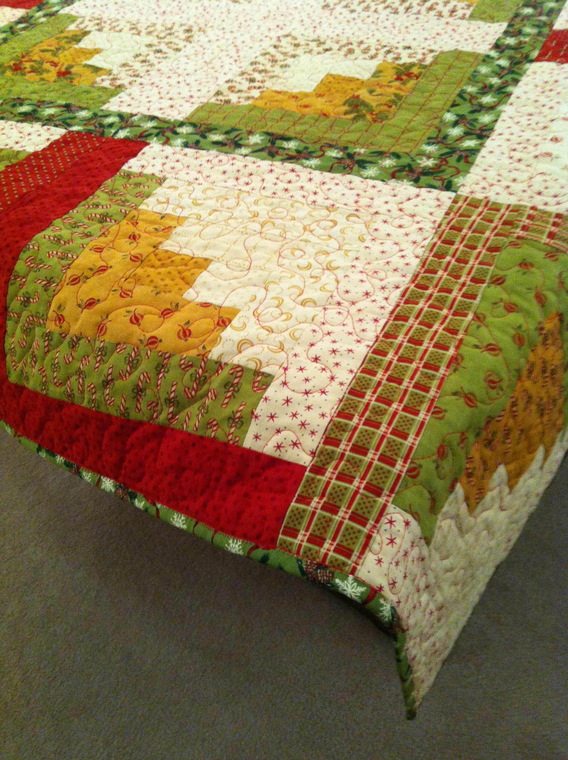 Log Cabin Christmas Quilt.Christmas Log Cabin Quilt Sewluxesew